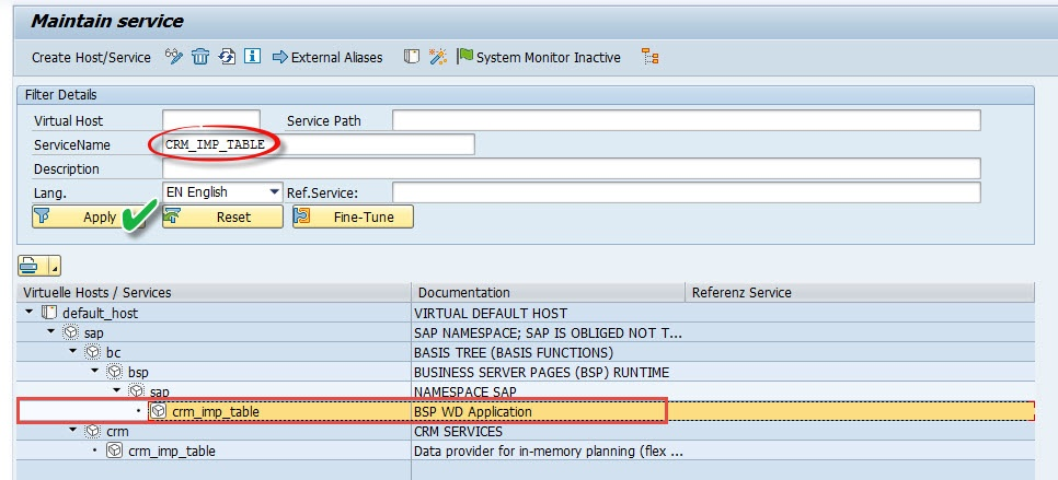 SICF Service CRM_IMP_TABLE - CRM - SCN Wiki