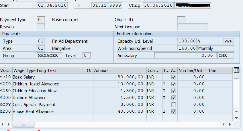 Calculation of HRA exemption in Payroll thru INHRA function - ERP
