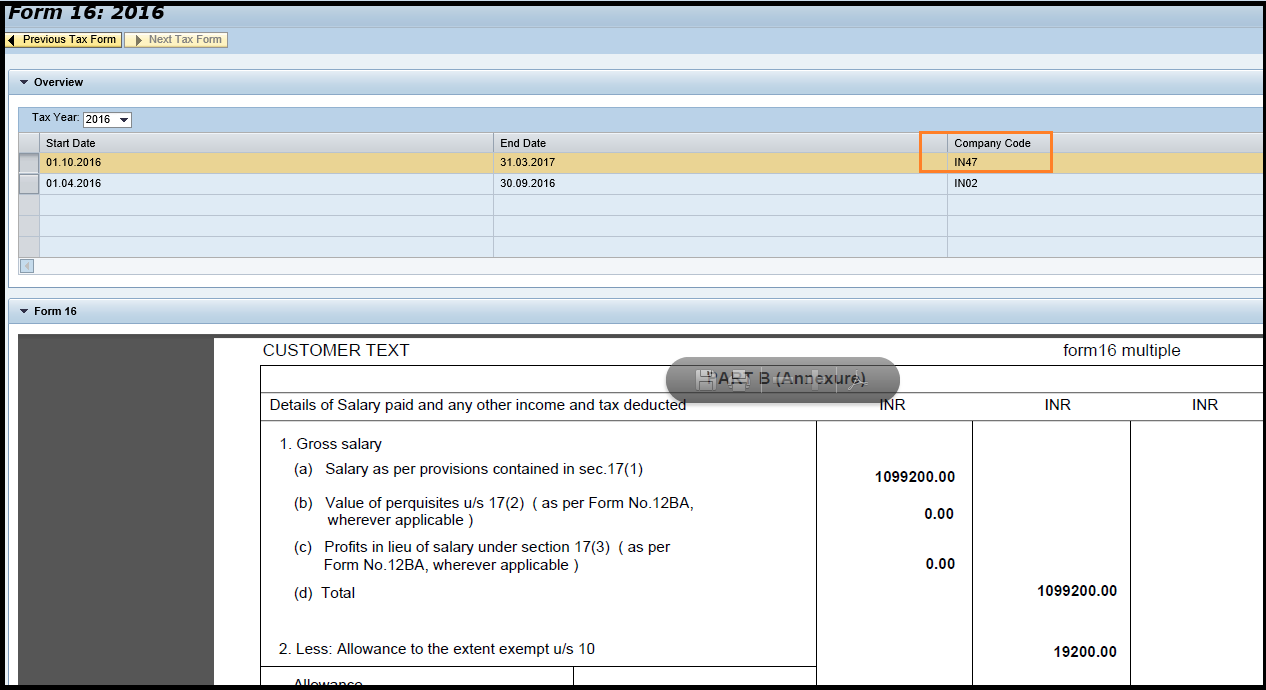 Form 16 ESS Functionality - ERP Human Capital Management
