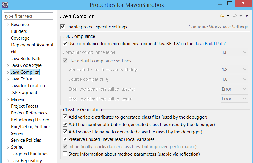 How to resolve error message Java compiler level does not match the