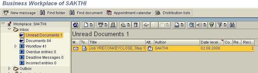 Send Spool list of background job to SAP inbox - Technology