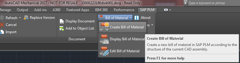 Old: How to derive a Bill of Material (BOM) - Product