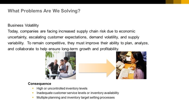 SAP Integrated Business Planning for Inventory - Supply