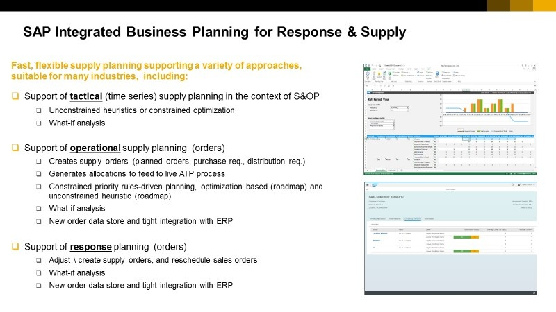 SAP Integrated Business Planning for Response and Supply