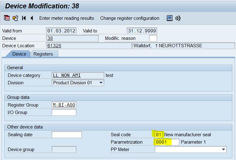 IS-U device modification reversal via transaction EG42