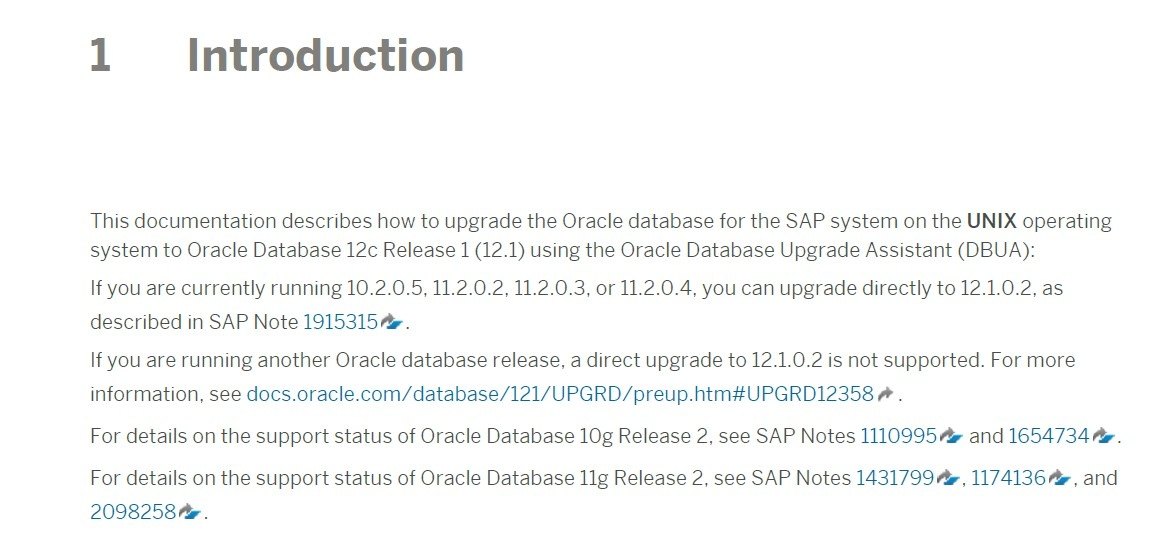 Which are the supported Oracle upgrade paths under SAP