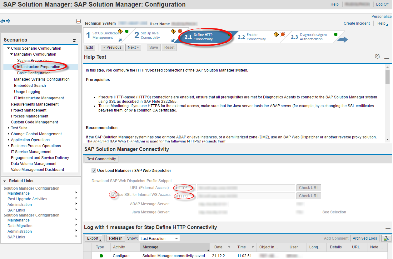 Connectivity in Solution Manager 7 2 - SAP Solution Manager Setup