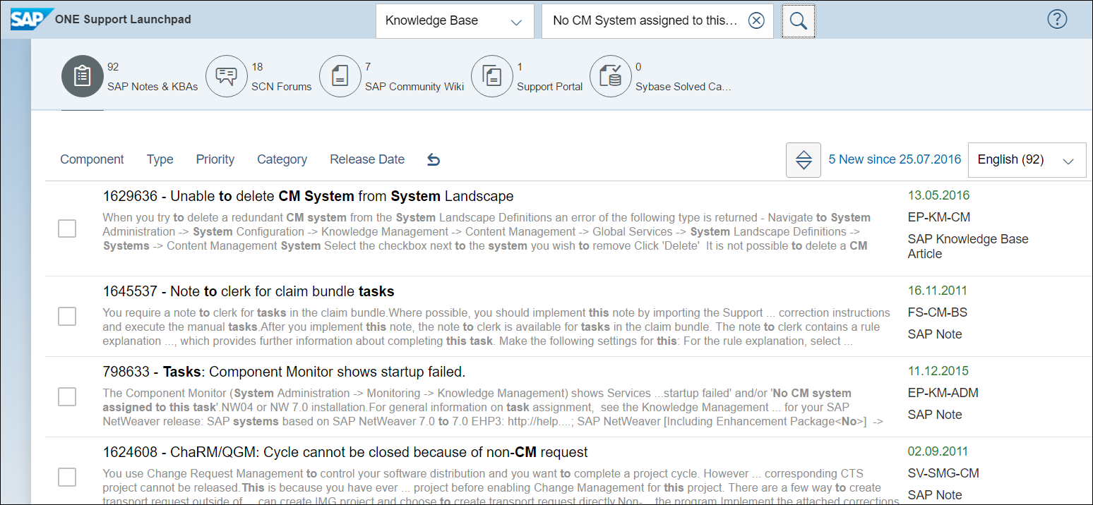 Initial Troubleshooting for Issues involving Knowledge Management