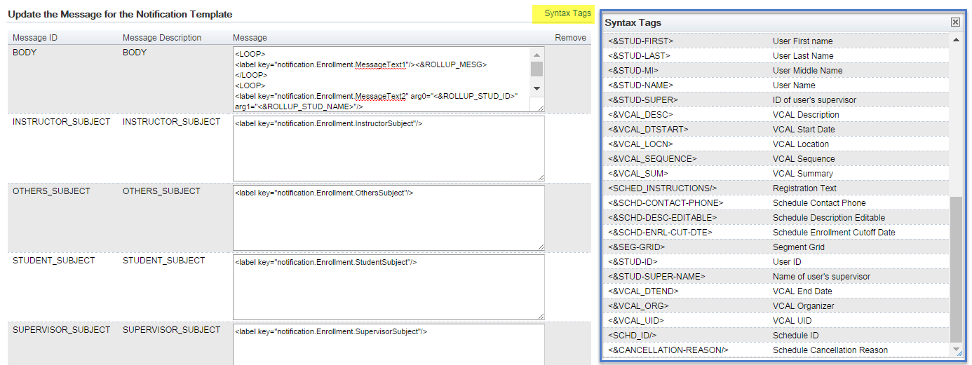 Notifications in the Learning Management System (LMS) - SAP