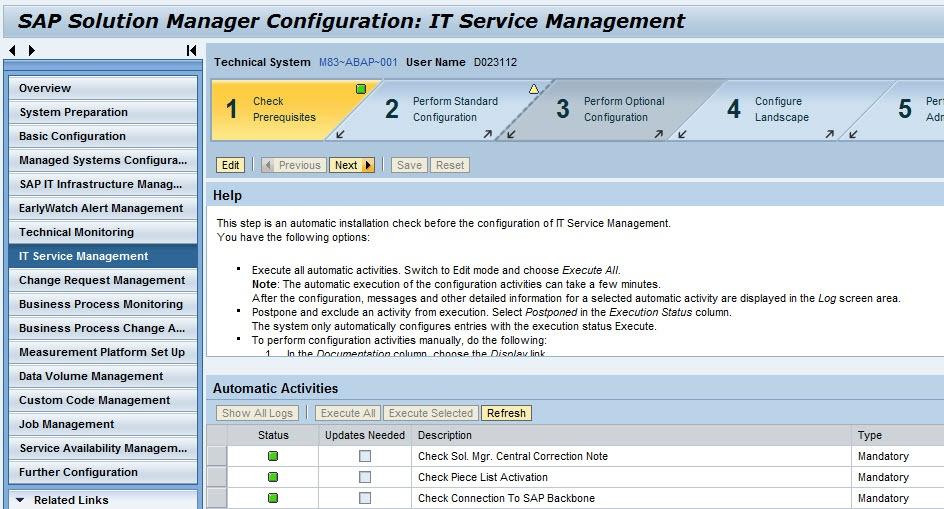 configuration and administration of it service management sap it rh wiki scn sap com On Hana SAP Solution Manager On Hana SAP Solution Manager