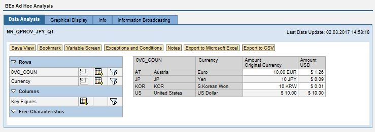 QPROV: Example for extracting elements with curr conversion - SAP