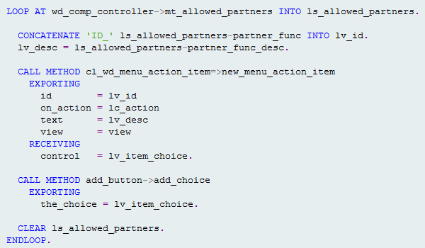 Add button availability - Supplier Relationship Management