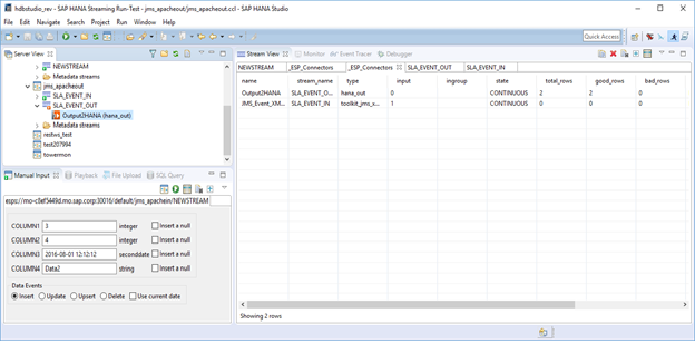 Smart Data Streaming: Using the JMS XML Adapters - SAP HANA - SCN Wiki