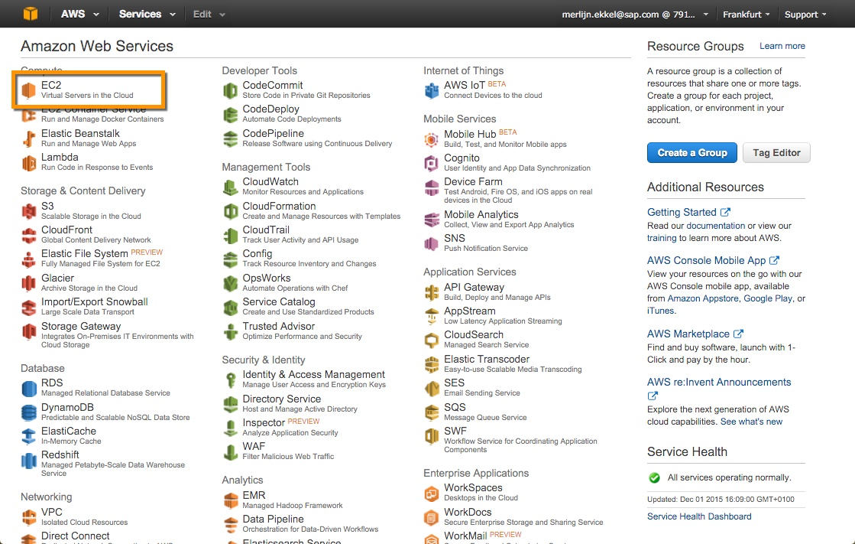 SAPBI@AWS - Provisioning - Business Intelligence (BusinessObjects
