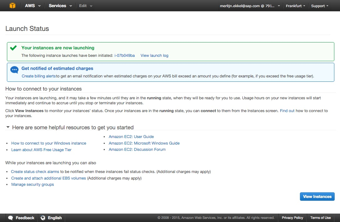 SAPBI@AWS - Provisioning - Business Intelligence (BusinessObjects