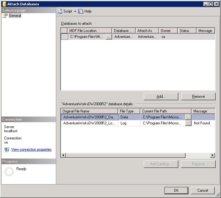 Install and configure AdventureWorks sample database - SQL - SQL Server