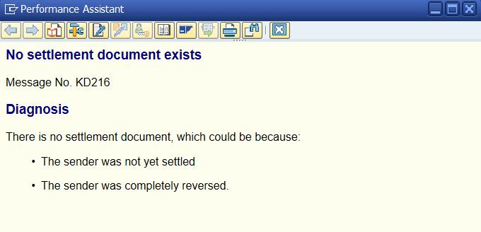 Errors during settlement - ERP Financials - SCN Wiki