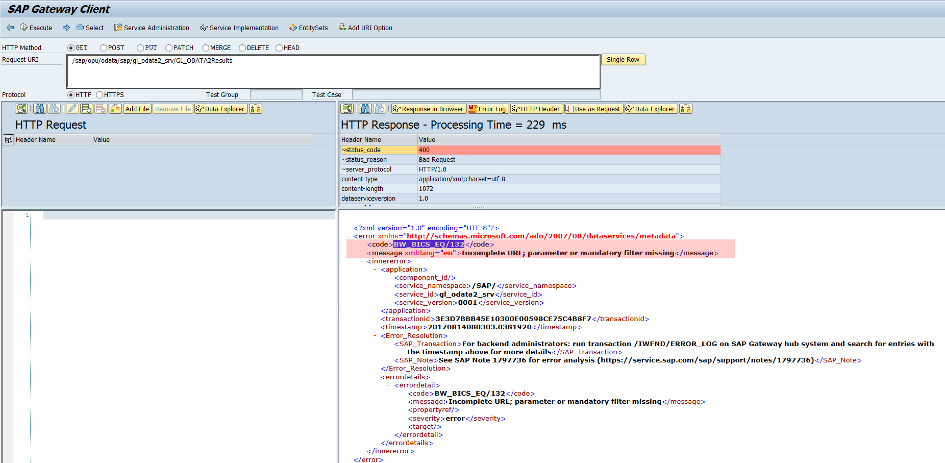 ODATA query with variables - SAP NetWeaver Business