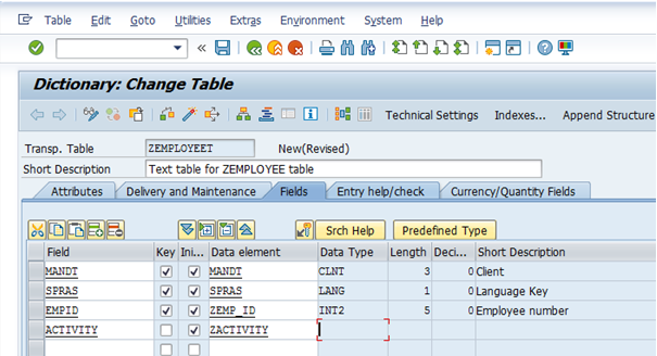 How to create a text table and linking it to the primary