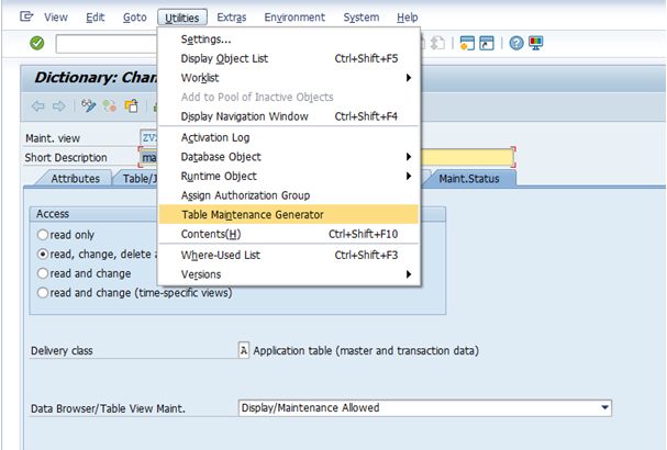 How to create a view cluster for custom table/view