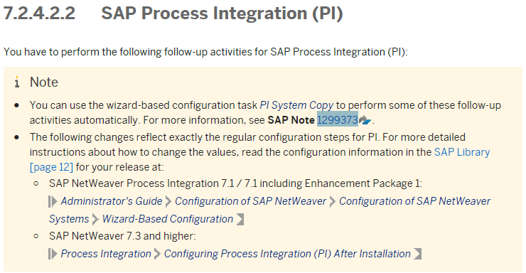 Pi troubleshooting tips: pi system copy process integration.