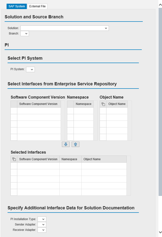 Export and Import of Interface Documentation Data - Solution Manager