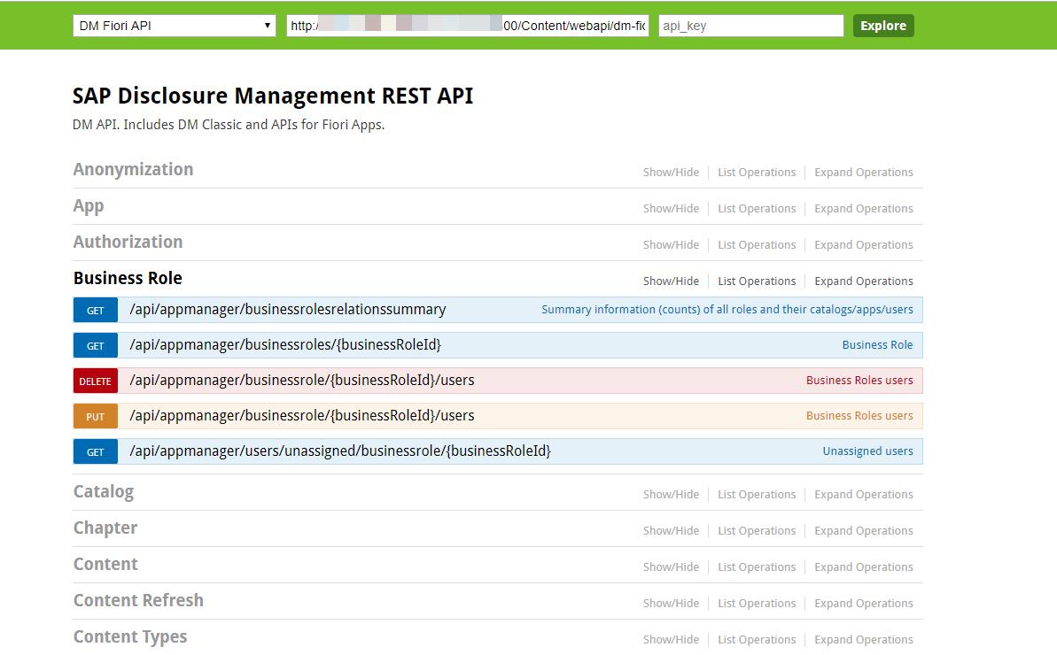 Handling of HTTP methods in Disclosure Management APIs