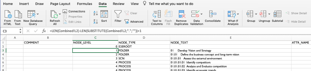 Using SAP Solution Manager MS Excel Upload - Example APQC