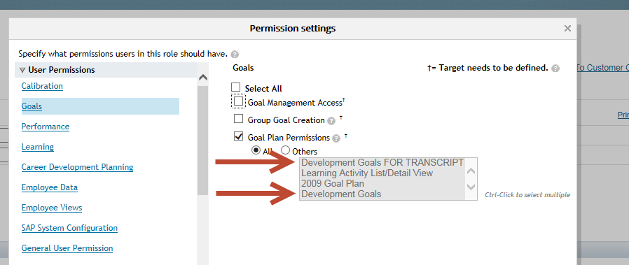Career Development Plan - Permissions - SAP SuccessFactors