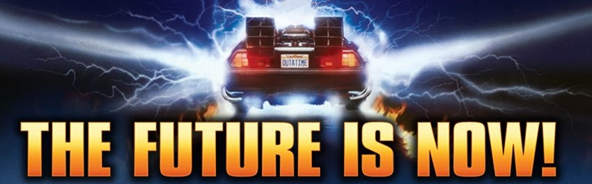 The Future is Now - DeLorean timemachine from Back to the Future
