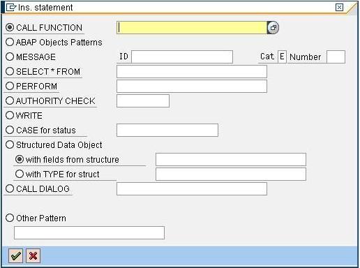 DYNAMIC PATTERN - Custom Create Pattern in ABAP Editor