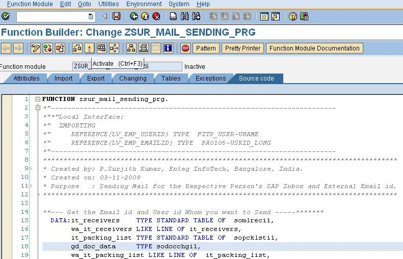 Send Message to External email id and SAP User id via ABAP