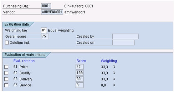 Vendor Evaluation Process - ERP SCM - SCN Wiki