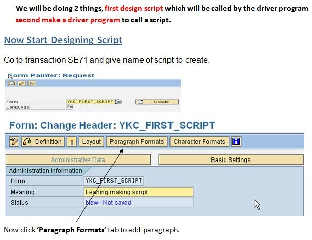 Make First SAP Script step by step - ABAP Development - SCN Wiki
