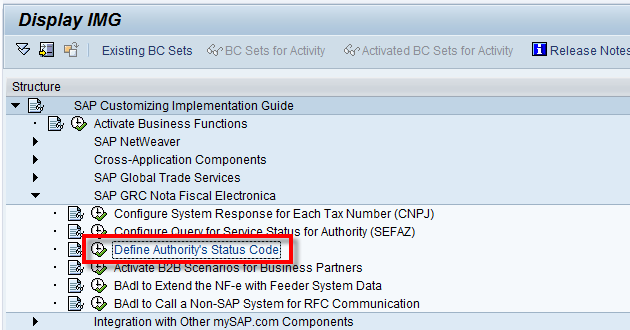 Importing The Government Status Codes Into Sap Nfe