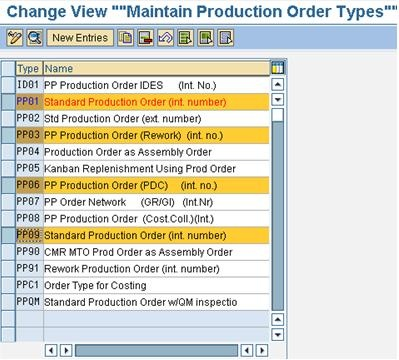 Production Order Type Selection - ERP Operations - SCN Wiki