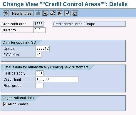 Credit Mangement In Sd Fi Erp Sd Scn Wiki